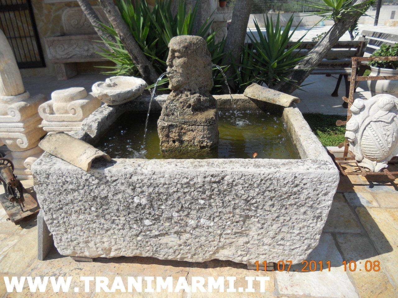 Trani marmi s r l lavorazione della pietra di trani for Fontane antiche